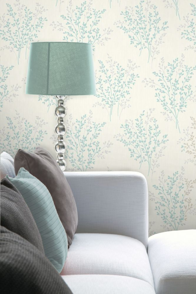 Fine Decor Summer Blossom Teal FD40891 Wallpaper